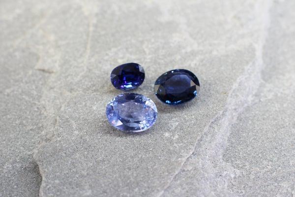 Intensities of blue sapphires