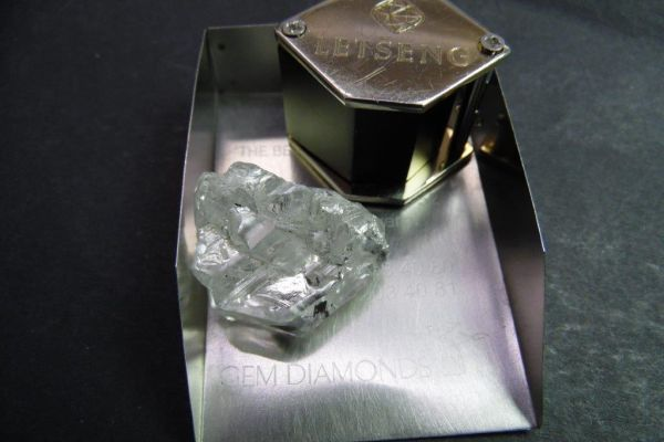 Letseng Gem Diamonds 115ct rough diamond Sept 2017-1