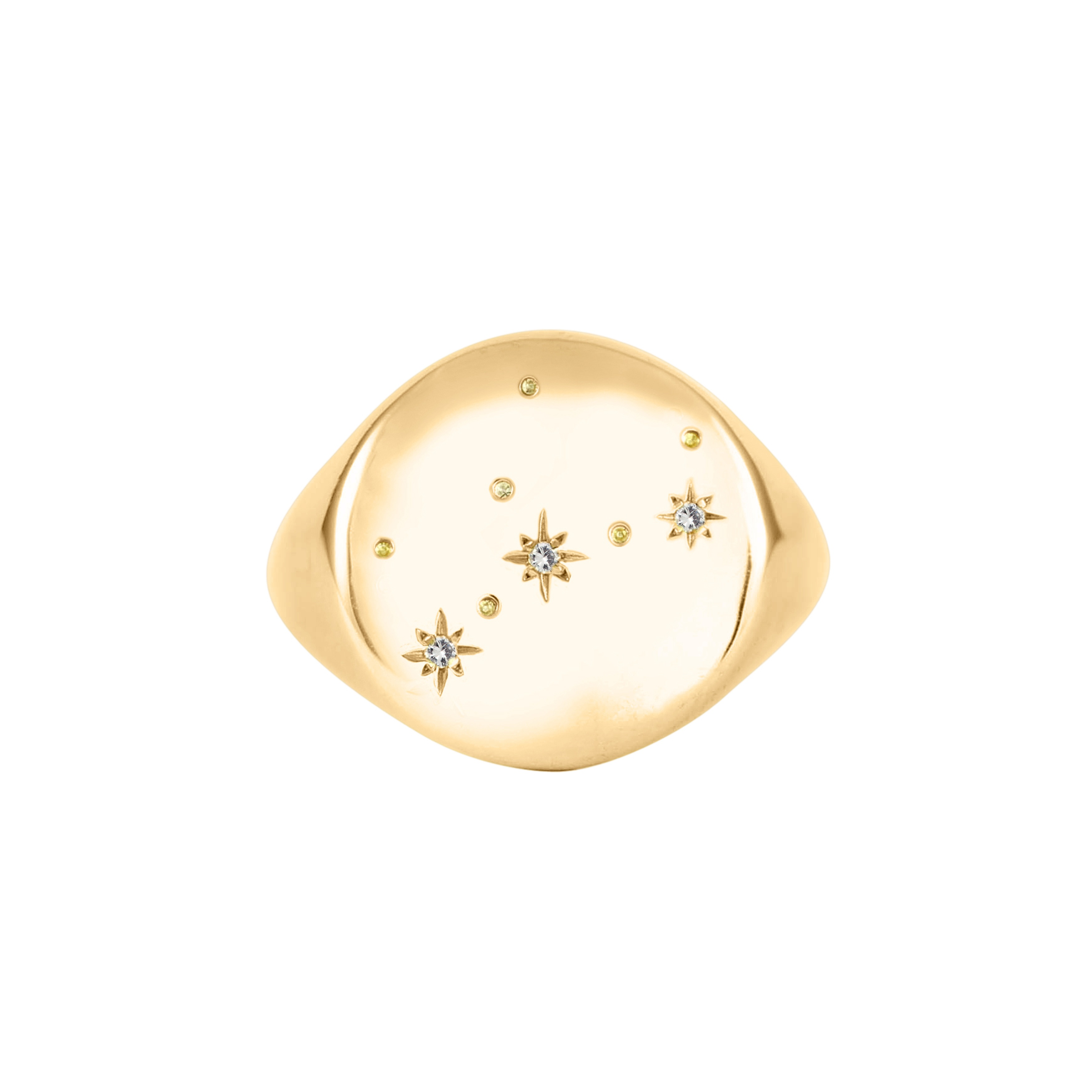 The Pommier Virgo gold constellation ring hires www.thepommier.com