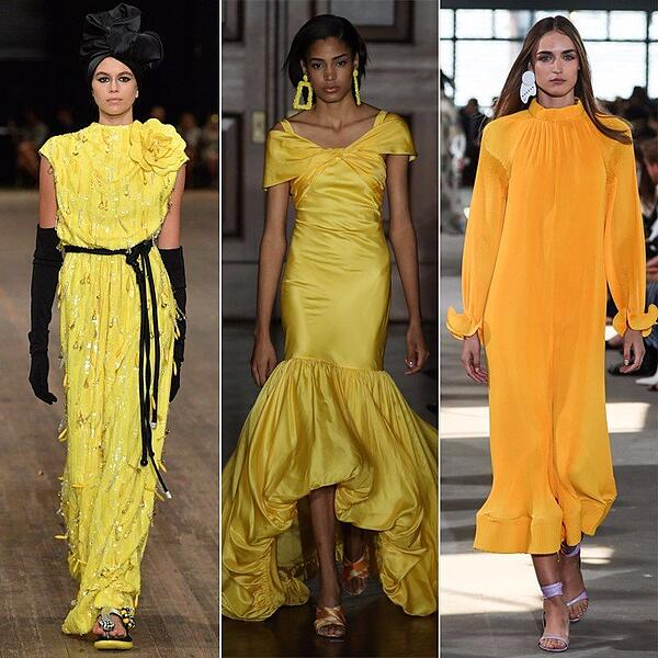 Yellow-Dresses-Runway-Spring-2018 - credit getty-1