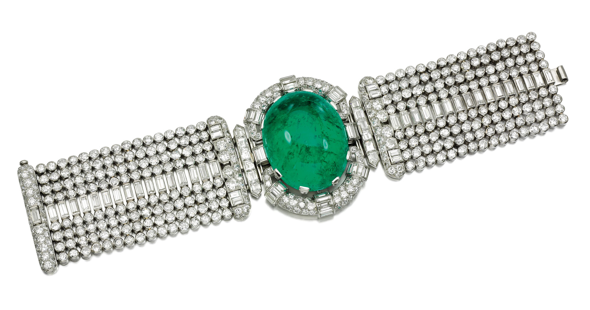 emerald and diamon bracelet  - credit Sotheby's-1