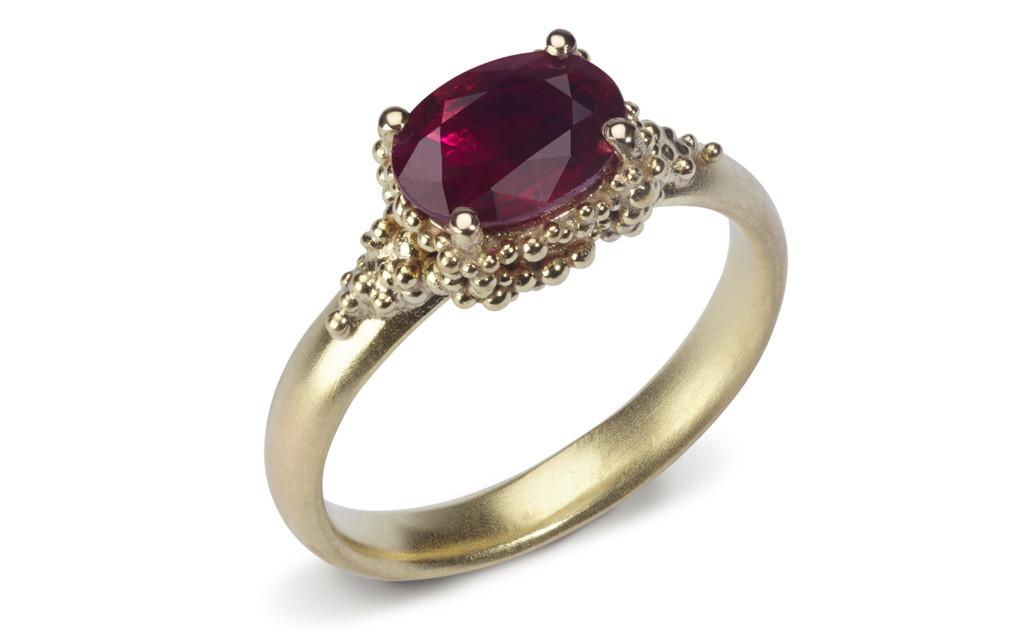 gold ruby ring Hannah Bedford
