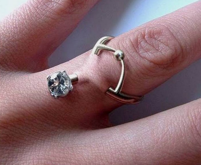 Millennials Piercing their Fingers with Diamonds