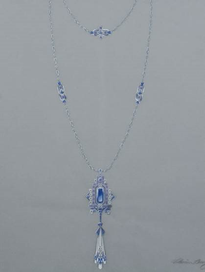 Art Deco Blue Sapphire Necklace Receives Excellence in Jewellery Design