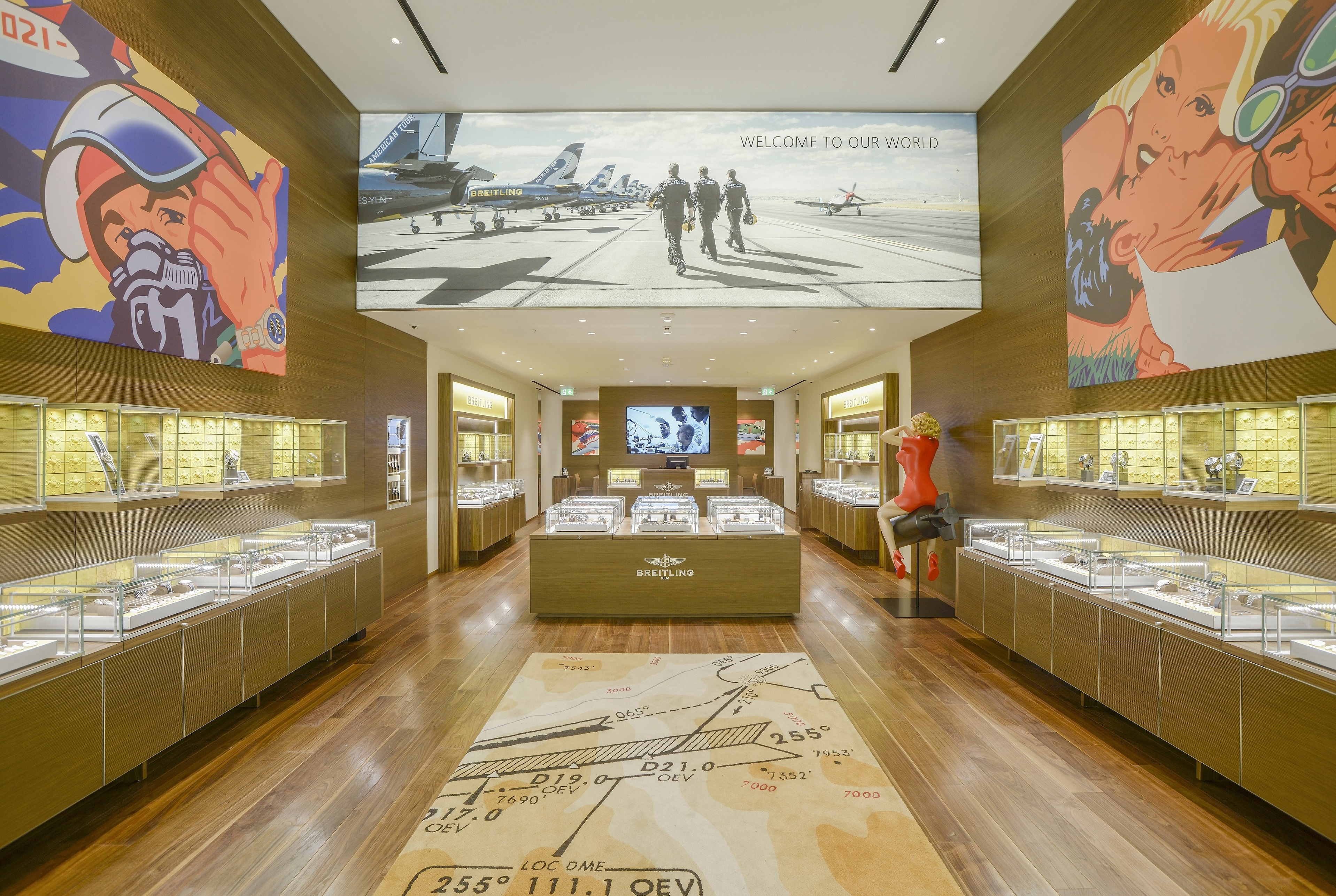 breitling debut store in manchester's trafford centre