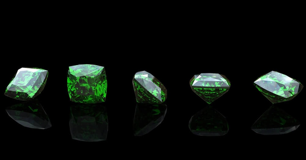 green gemstones, the hottest colour for spring