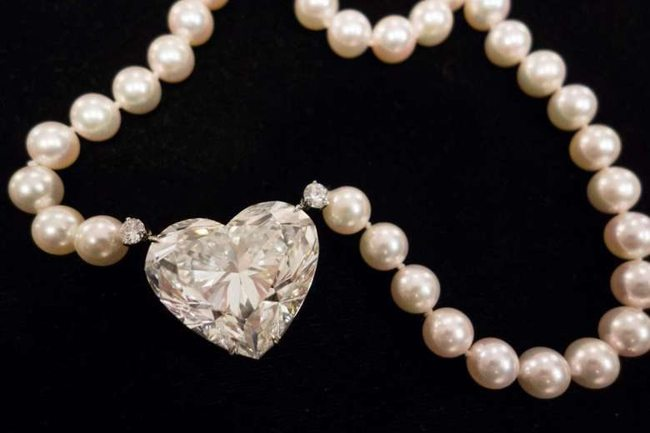 auction record set by heart shaped diamond