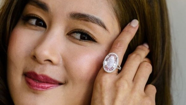 'pink promise' diamond sells for more than us$32m in hong kong
