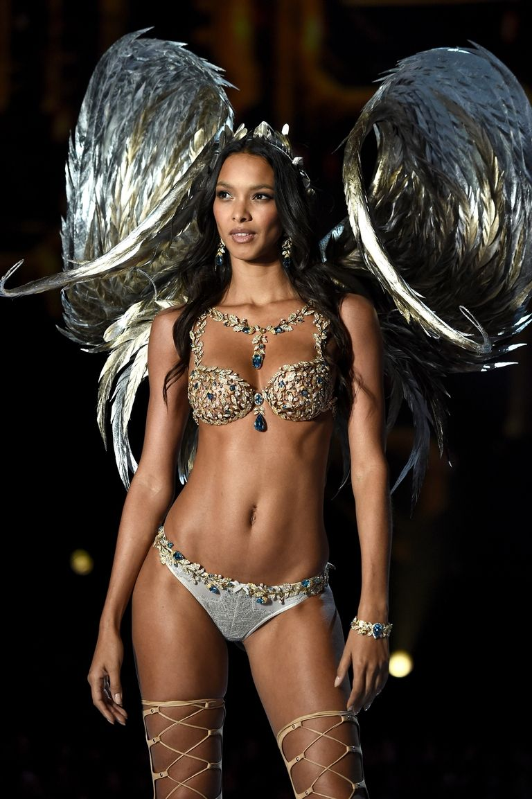 check out this gorgeous angel in a $2 million victoria secret bra