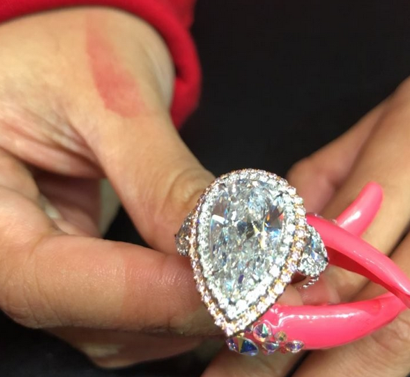 a look at cardi b's massive engagement ring